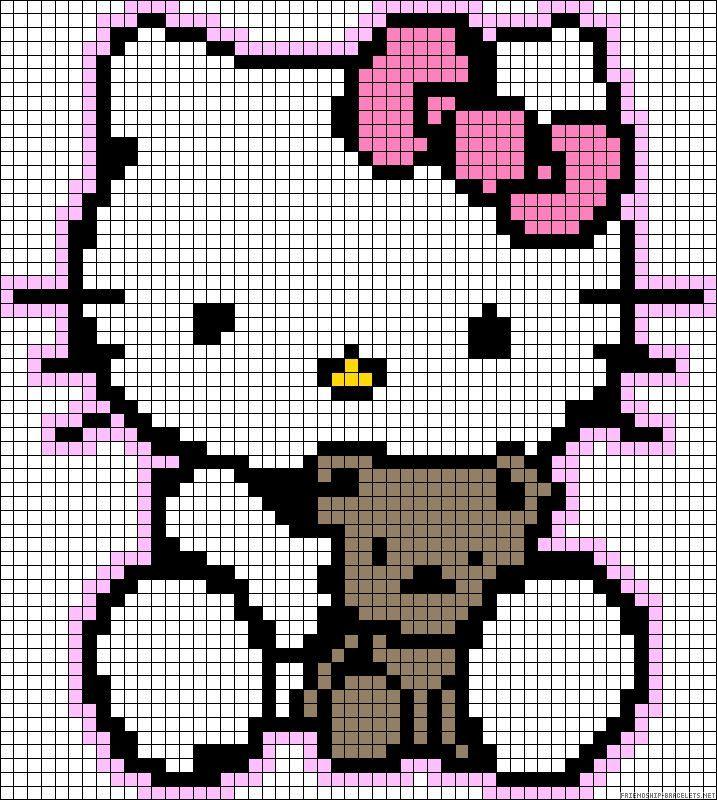 Resultat De Recherche D Images Pour Pat Patrouille Pixel Art Hello Kitty Crochet Kawaii Cross Stitch Hello Kitty