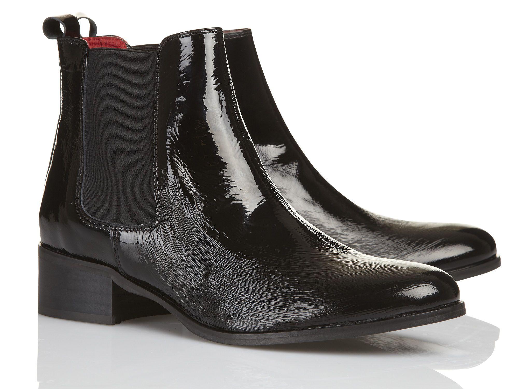 Boots en cuir Noir by PASTELLE