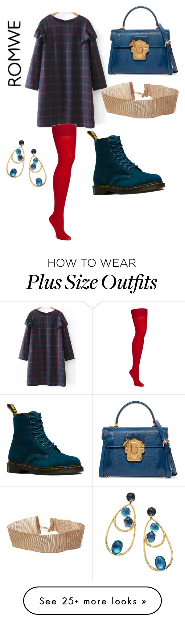 """""""Shift Dress"""" by rmauschenfangs on Polyvore featuring Dr. Martens, Dolce&Gabbana and Ippolita"""