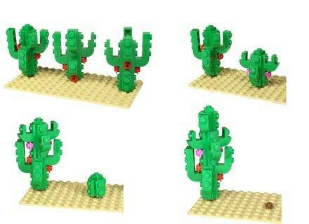 Pflanze Kakteen Kaktus dunkelgrün Lego Duplo