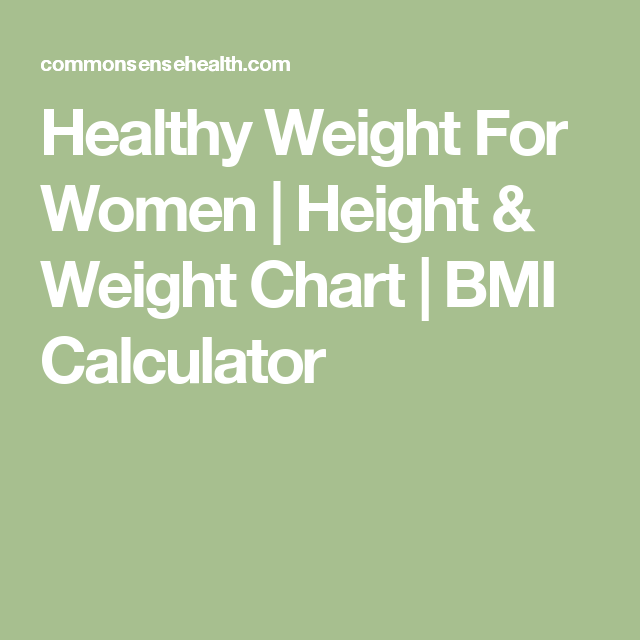 Healthy Weight For Women Height Weight Chart Bmi Calculator