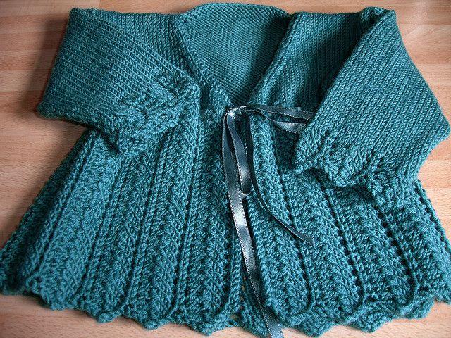 Matinee Coat pattern by Debbie Bliss | Coat patterns, Baby ...