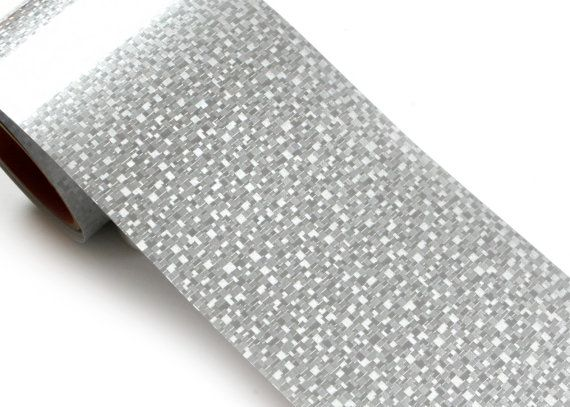 Peel & Stick High Glossy Border Sticker Sparkle Silver by