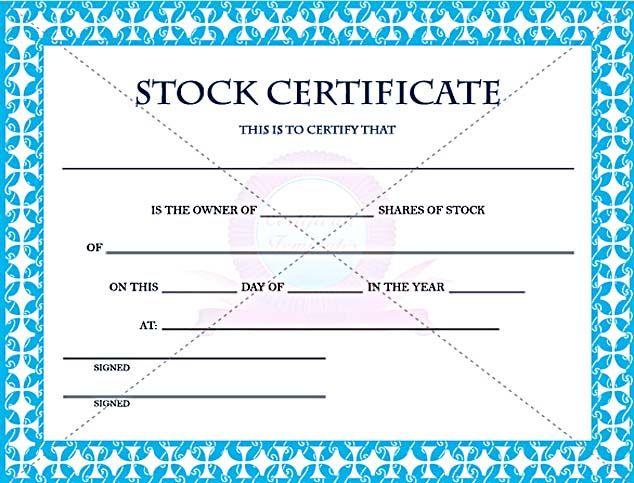Stock Certificate Template Corporate Stock Certificate Template