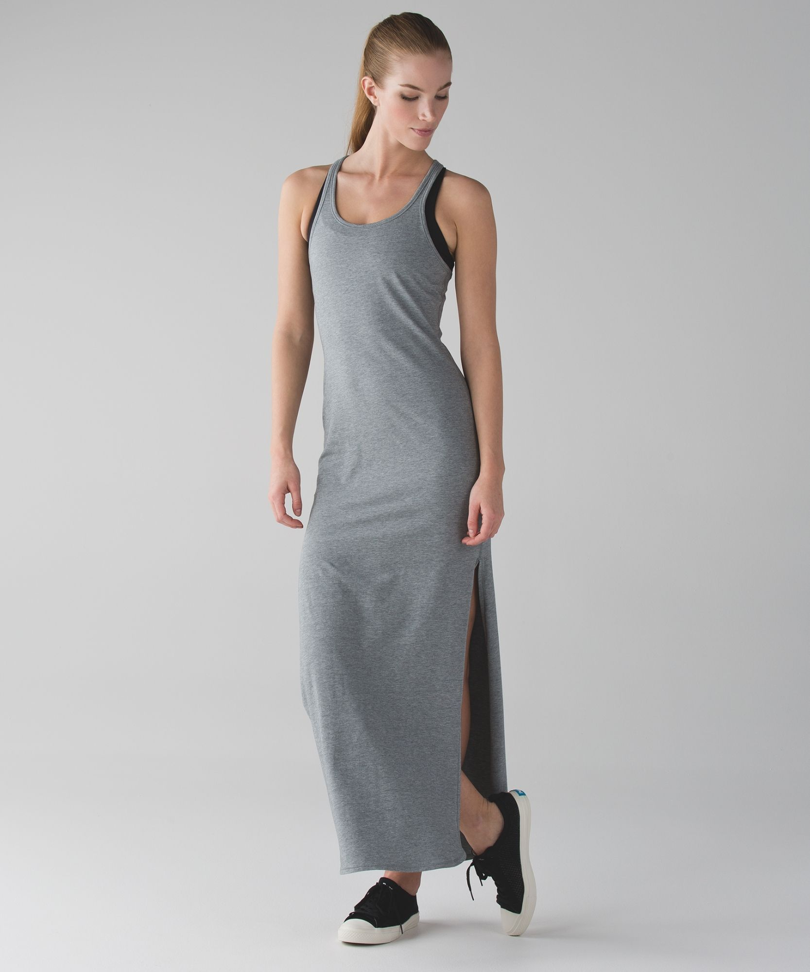 295e31667 Refresh Maxi Dress II HMDG- Heathered Medium Grey Size 6 94% Pima Cotton &  6% Lycra Elastane