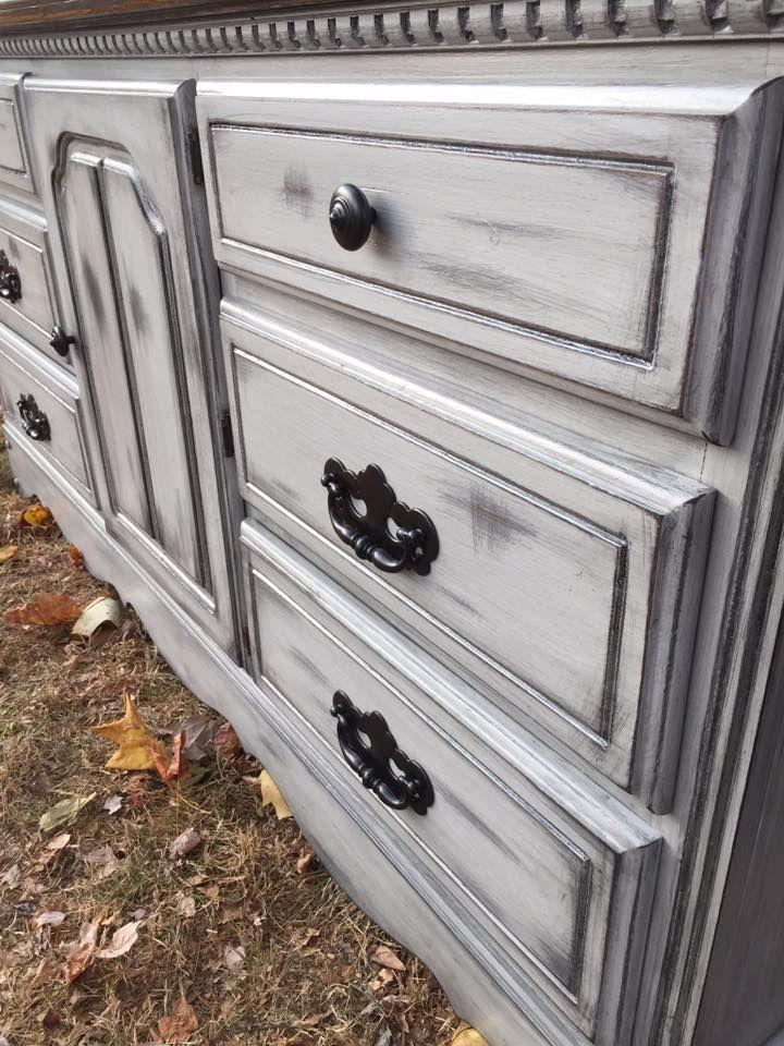 Best Farmhouse Style Dresser Grey Distressed Furniture Gray 400 x 300