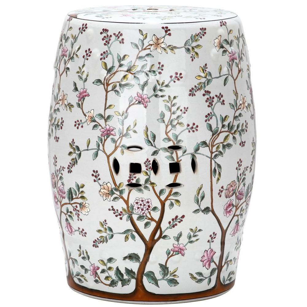 Safavieh Flower Tree Pattern Ceramic Blooming Tree Patio