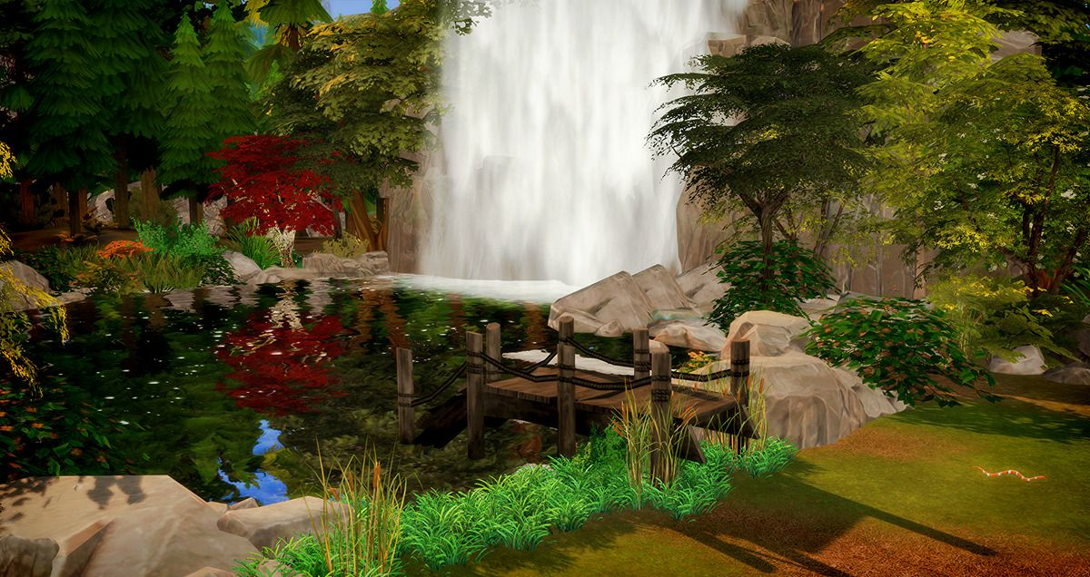 The Sims 4 Granite Waterfall Lot Downloadspeed Building Video With English Subtitles Lot Type Generic 50x50 L Outdoor Retreat Outdoor Furniture Sets Granite