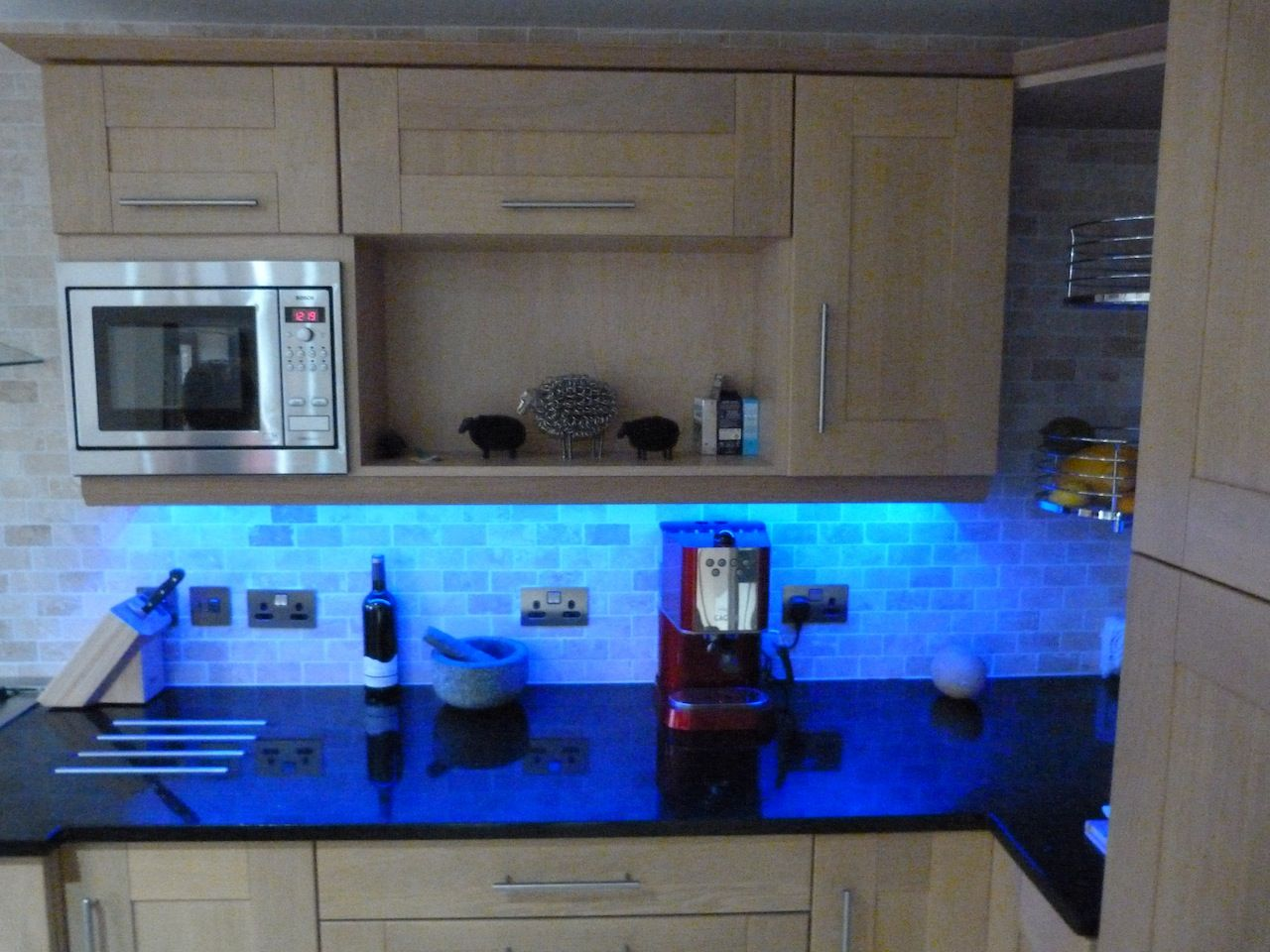 Colour changing LED Strip = perfect for your under kitchen cabinet ...
