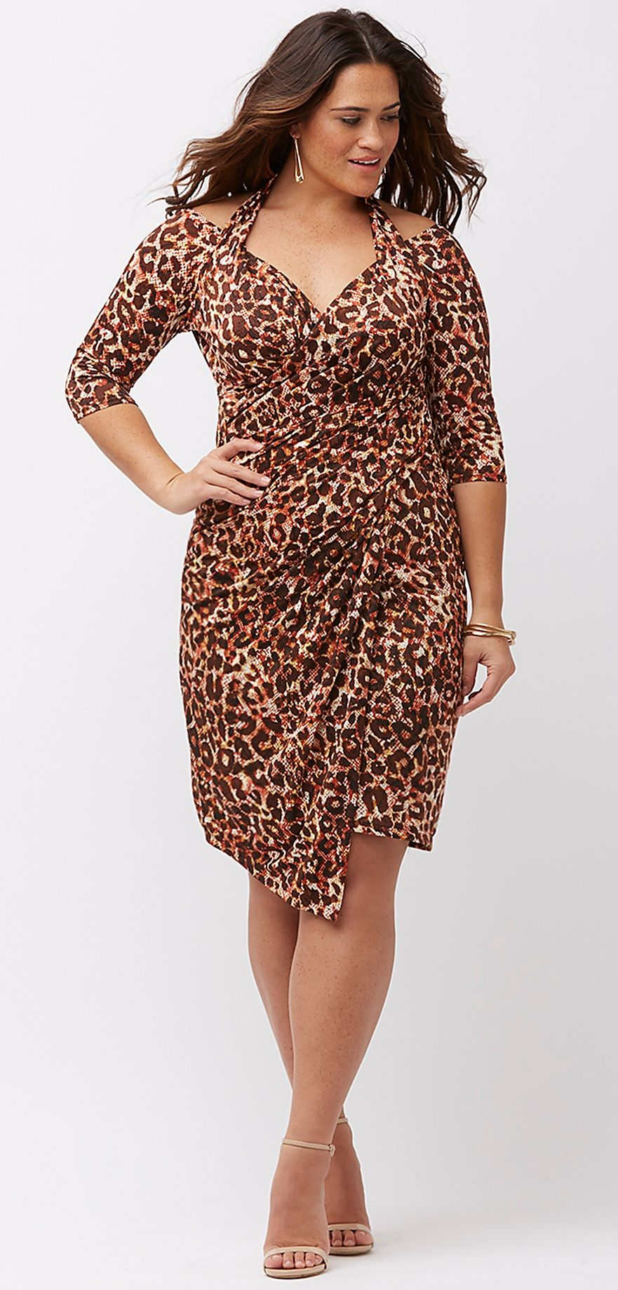 Perfect For Valentines Day Plus Size Faux Wrap Dress Plus Size