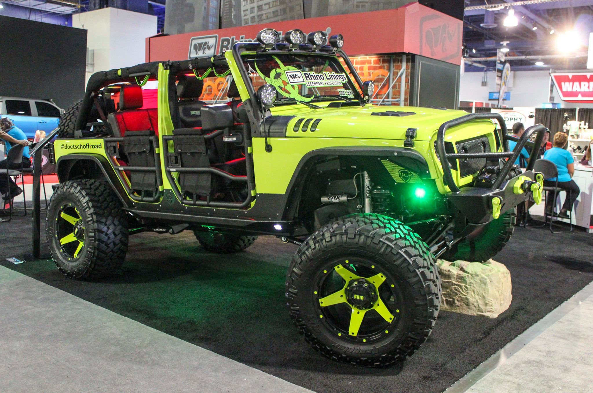 Decked Out Rhino Lining Jeep Wrangler Love All The Amazing