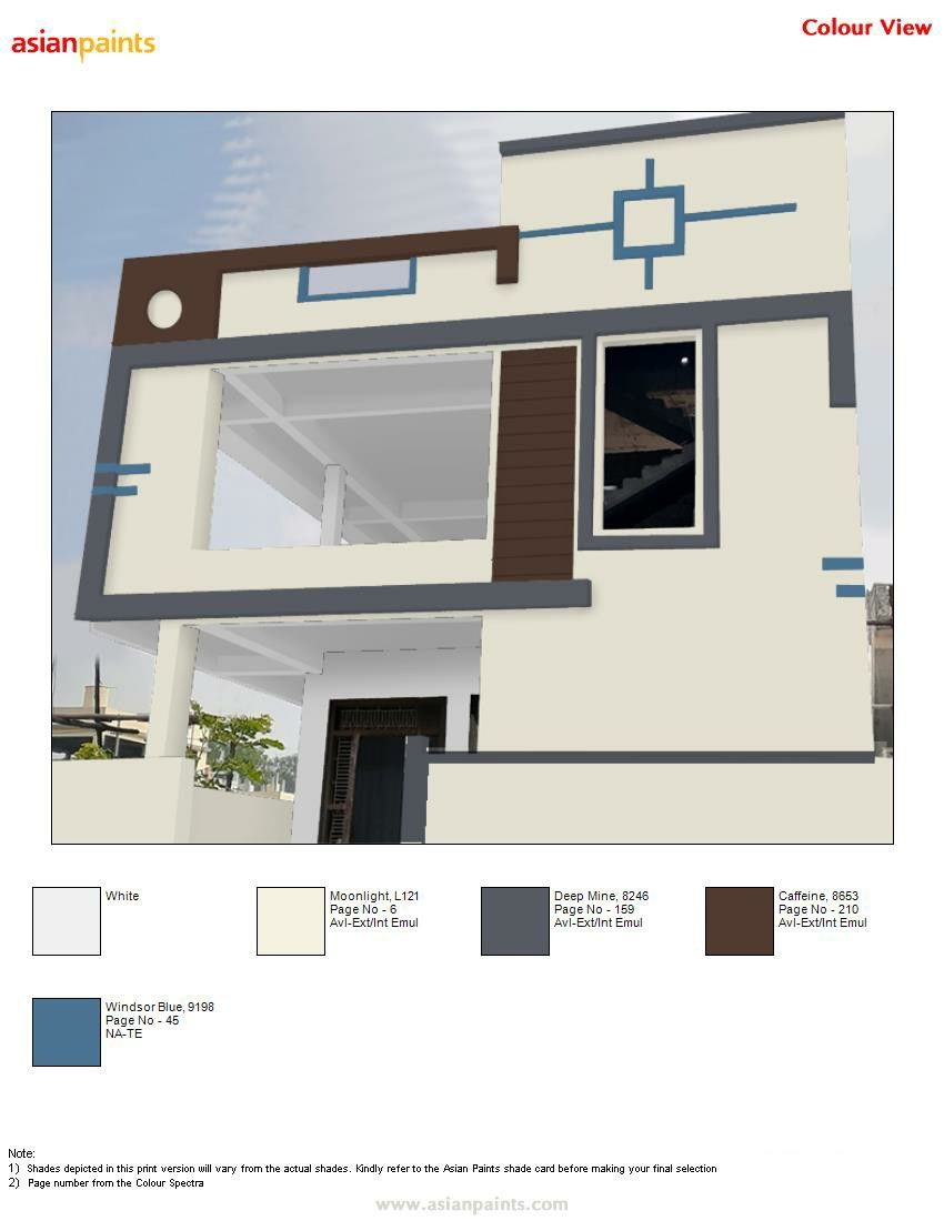 Asian Paints Exterior Colour Combinations Preview Available For Your Own Building 944 Exterior Color Combinations Single Floor House Design House Arch Design