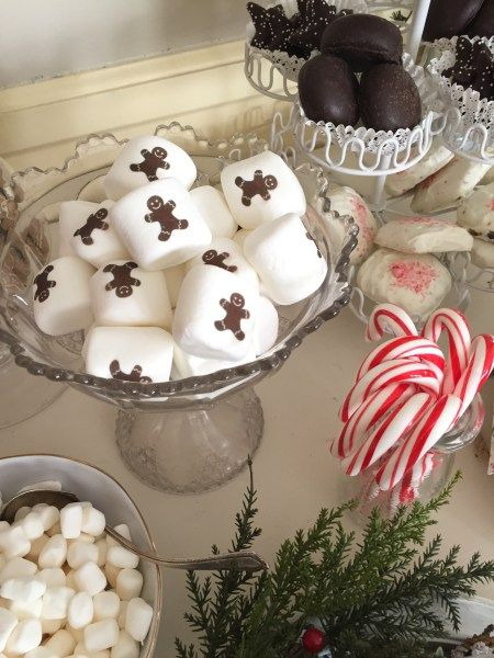 marshmallows/hot cocoa station/Christmas party