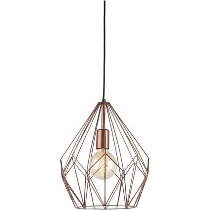 eglo vintage hanglamp carlton koper praxis verlichting
