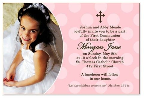 17 Best images about first communion invitations – Holy Communion Invitation Card