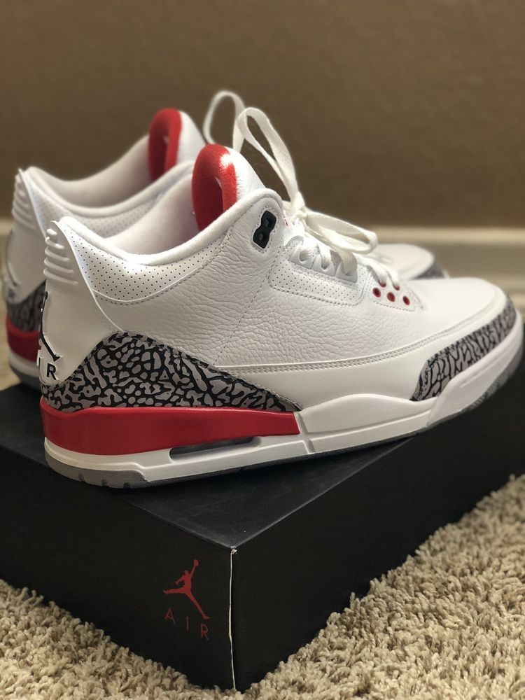c5537c96f54f00 Mens Air Jordan Retro 3 Katrina White Red Size 12 Authentic New In Box   fashion  clothing  shoes  accessories  mensshoes  athleticshoes (ebay link)