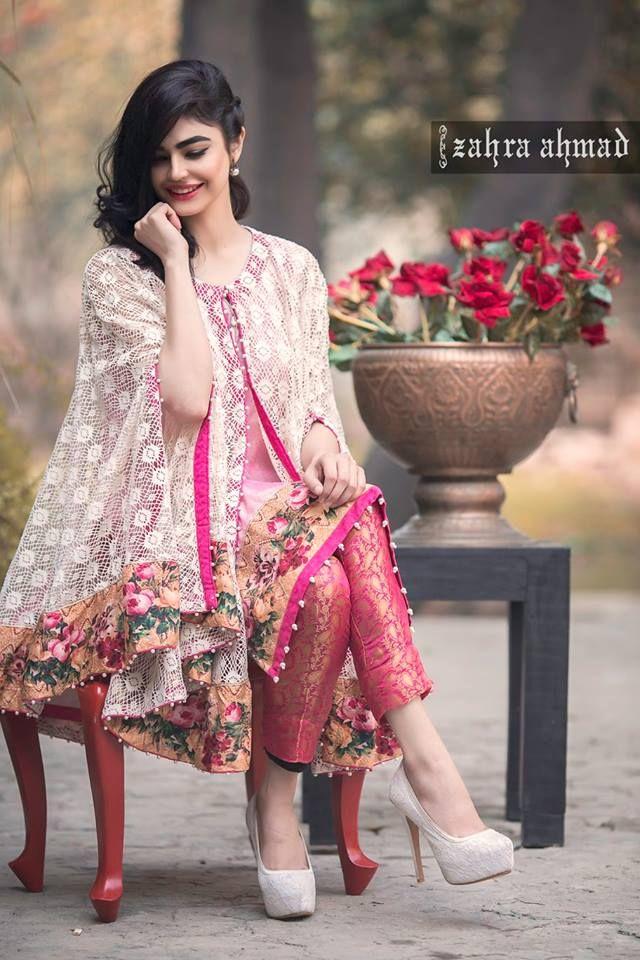 Zahra Ahmad Guzellik Party Dresses 2016 | Pakistani cape