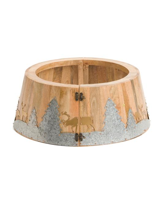 24in Tree Collar Tree collar, Tree, Rustic trees