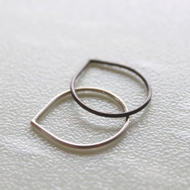 Tear drops stacking rings