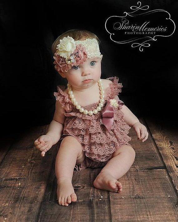 6a79440c30db ~DESIGN YOUR SET~ Create your own lace romper set and headband! Lace Romper  Colors: White, Ivory, Beige, Gray, Baby Pink, Coral, Dusty Rose, Red,  Burgundy, ...
