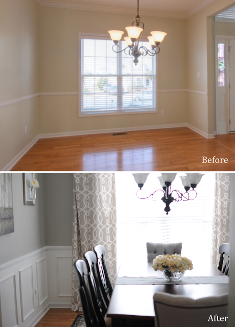 Formal #DiningRoom Transformation. Check out their whole house ...