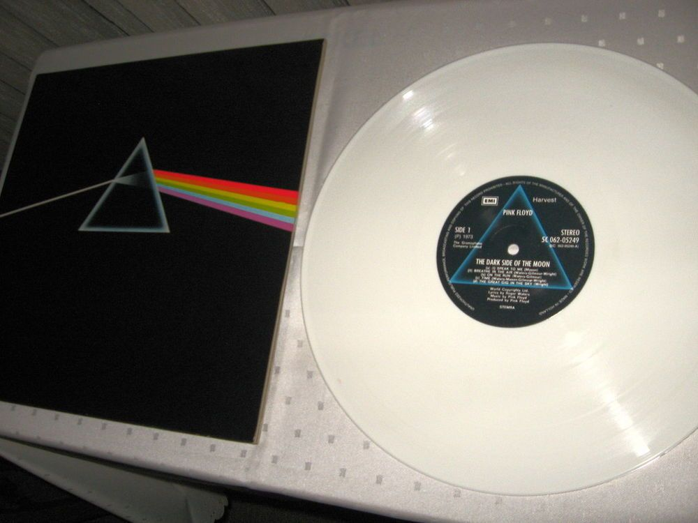 Pink Floyd - The Dark Side Of The Moon Dutch issue on white vinyl.