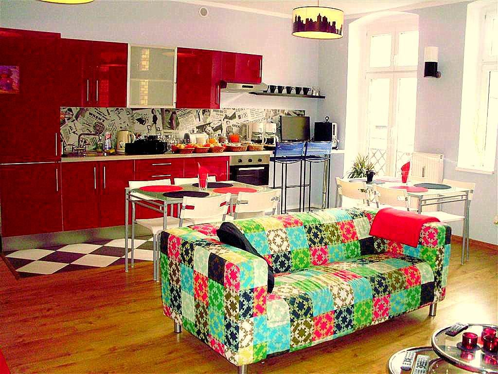 Retro Hostel Poznań - lobby & kitchen. Thanks Claudia Barco :)