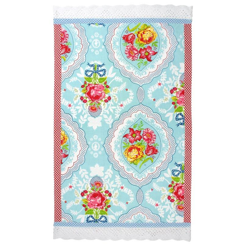 Pip Studio Tea Towel Kitchen Towel Antique Rose Shabby Chic Blue   X   Not  So Shabby, But Oh So Chic, This Exquisite Tea Towel Will Add Vintage Charm  And ...