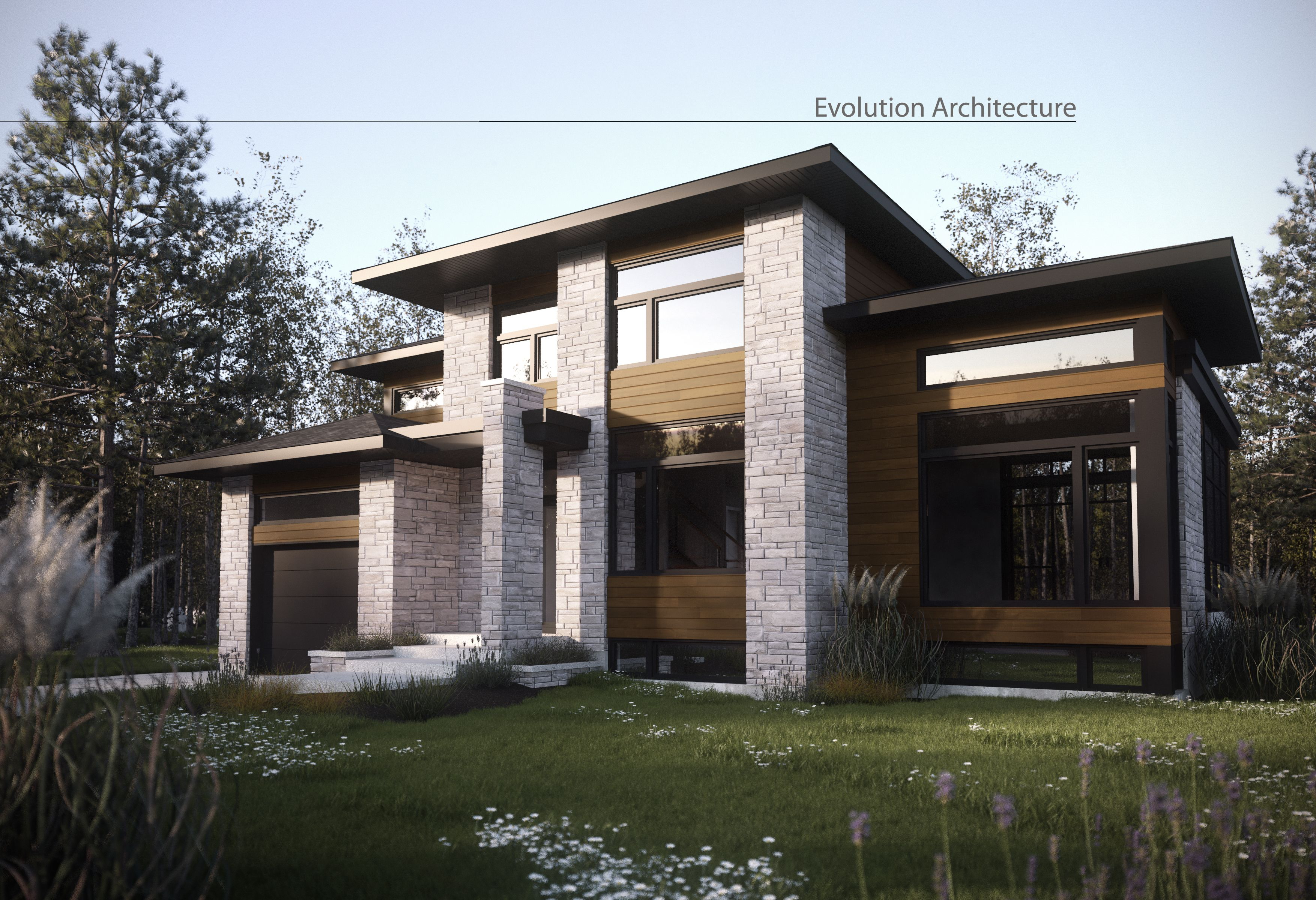 Evolution architecture maison contemporaine cr ation for Modele interieur maison moderne