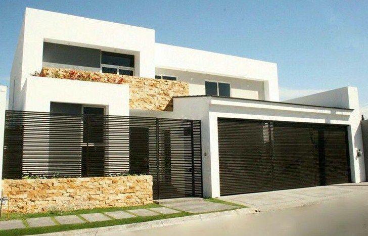 Fachadas de casas modernas con herreria arquitectura pinte - Rejas de casas modernas ...