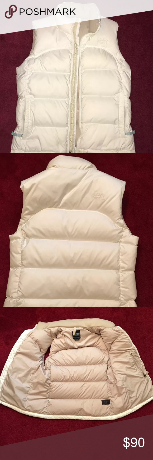 Women S Northface Nuptse 700 Down Puffer Vest Cream Tan Down Puffer Vest In Perfect Condition Worn A Couple North Face Jacket Northface Nuptse Clothes Design [ 1740 x 580 Pixel ]