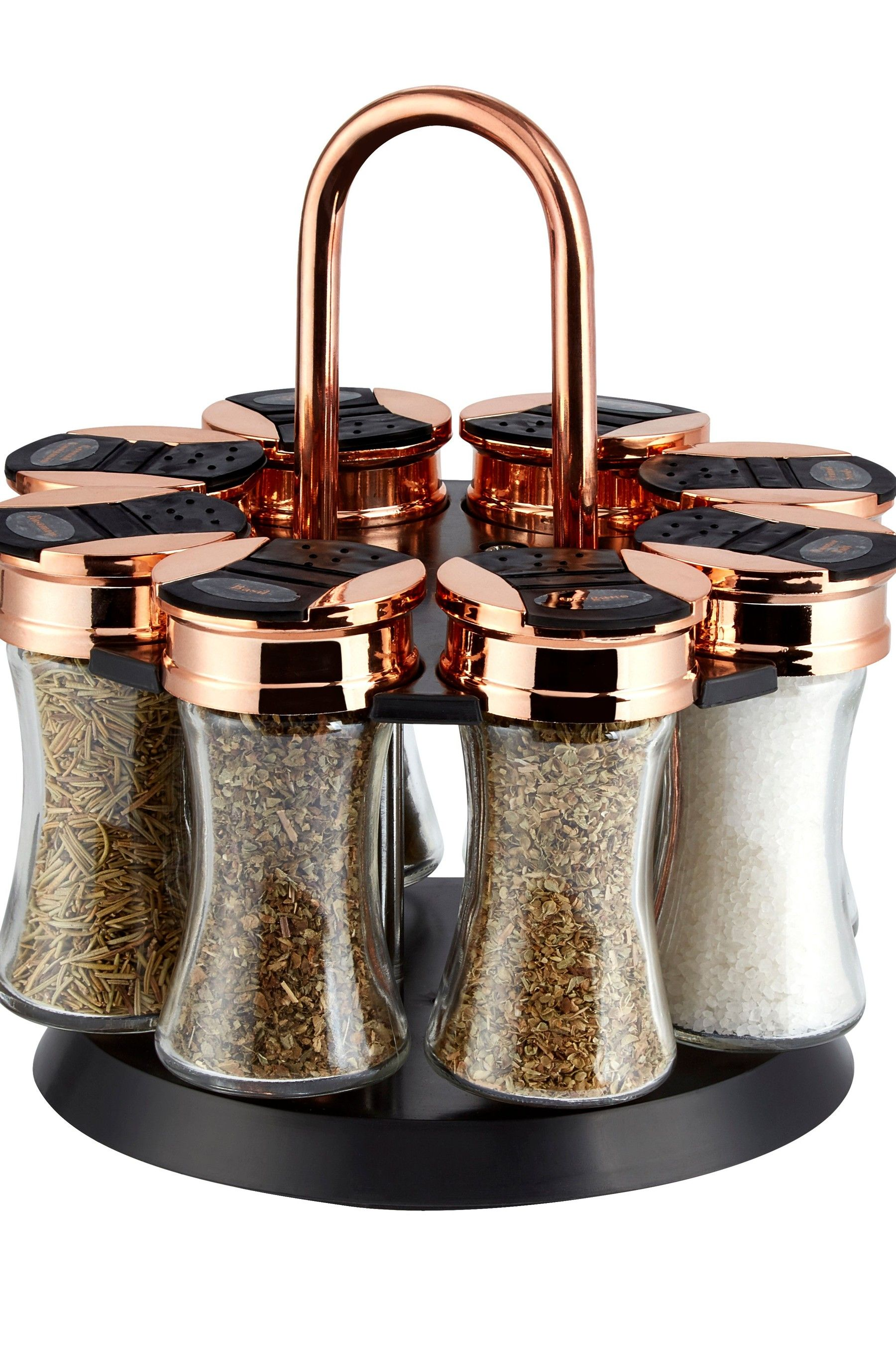 Tower 8 Jar Spice Rack –  Black