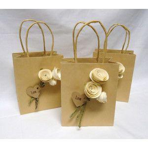 Wedding Favor Bags Gift Paper Rose