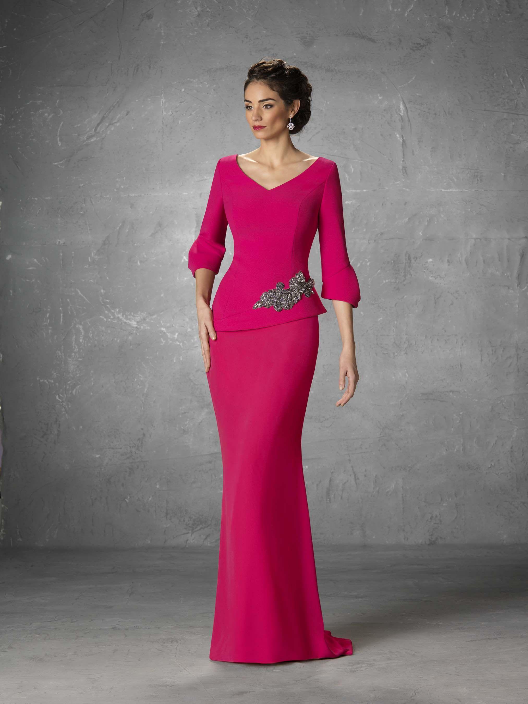 6c5fa2c364 Vestido de Madrina de Raffaello (Janase), largo | Madrinas, madre ...