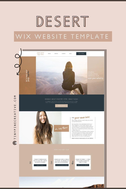 Desert Wix Website Template Tiny Pine Creative In 2020 Wix Website Templates Website Template Wix Website