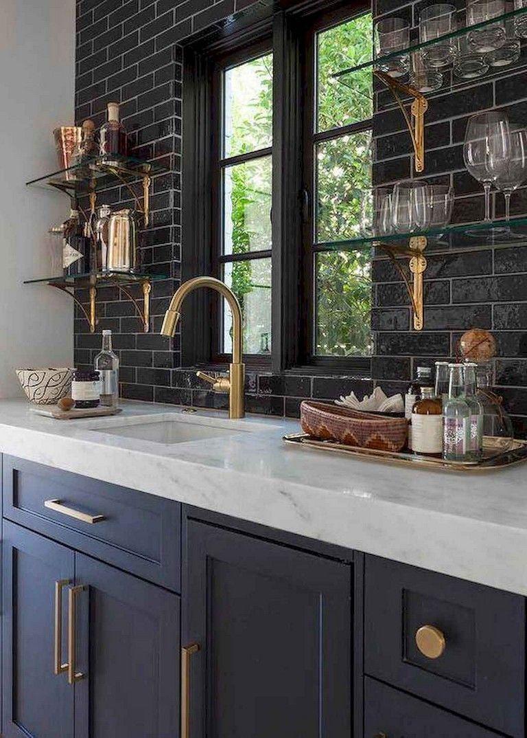 35 Admirable Kitchen Backsplash Decorating Ideas Kitchenbacksplash Kitchendecorating Kitchen Navy Kitchen Cabinets Kitchen Renovation Blue Kitchen Cabinets