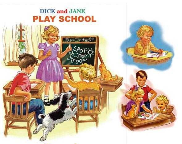 dick jane book fighting