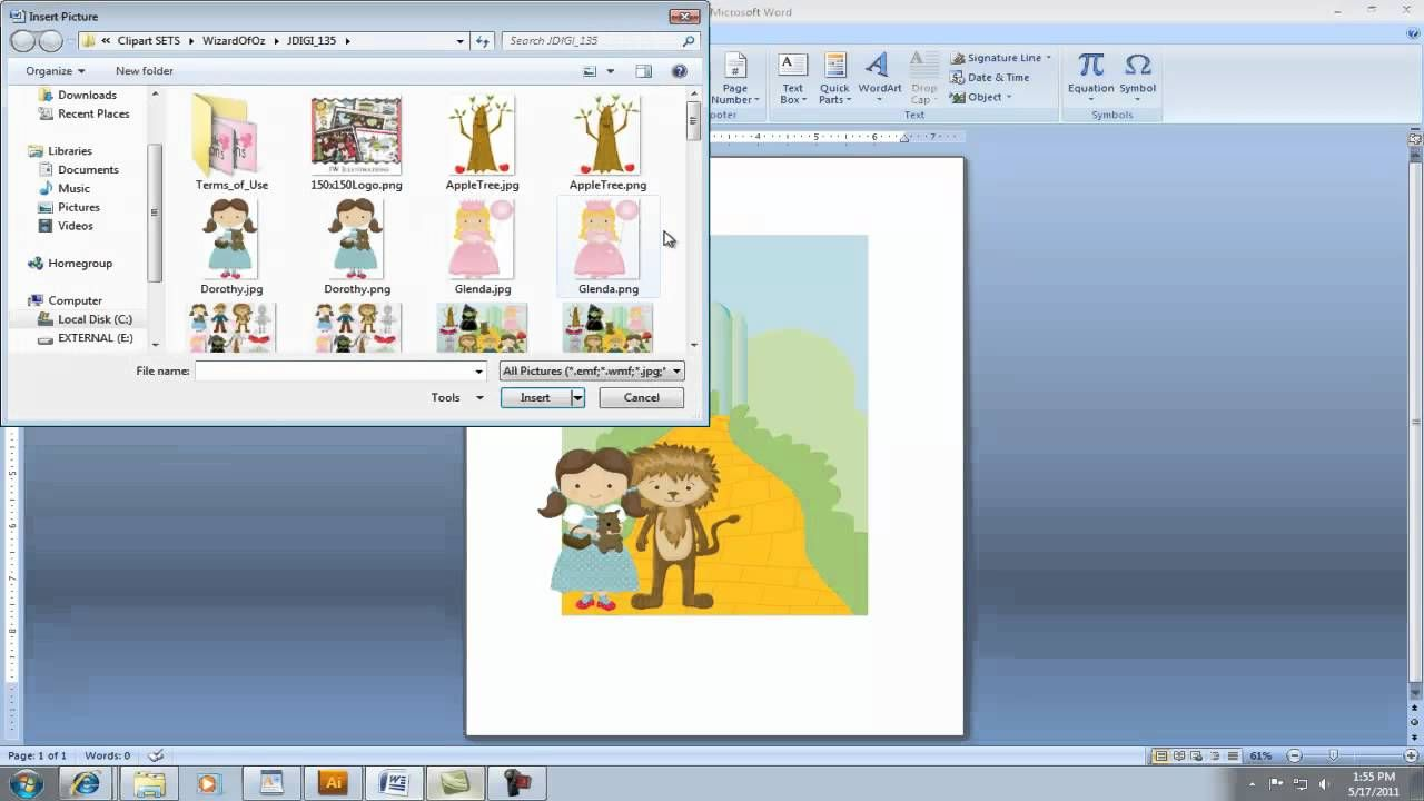 Creating Invitation Using Clipart In Microsoft Word  Pregnancy