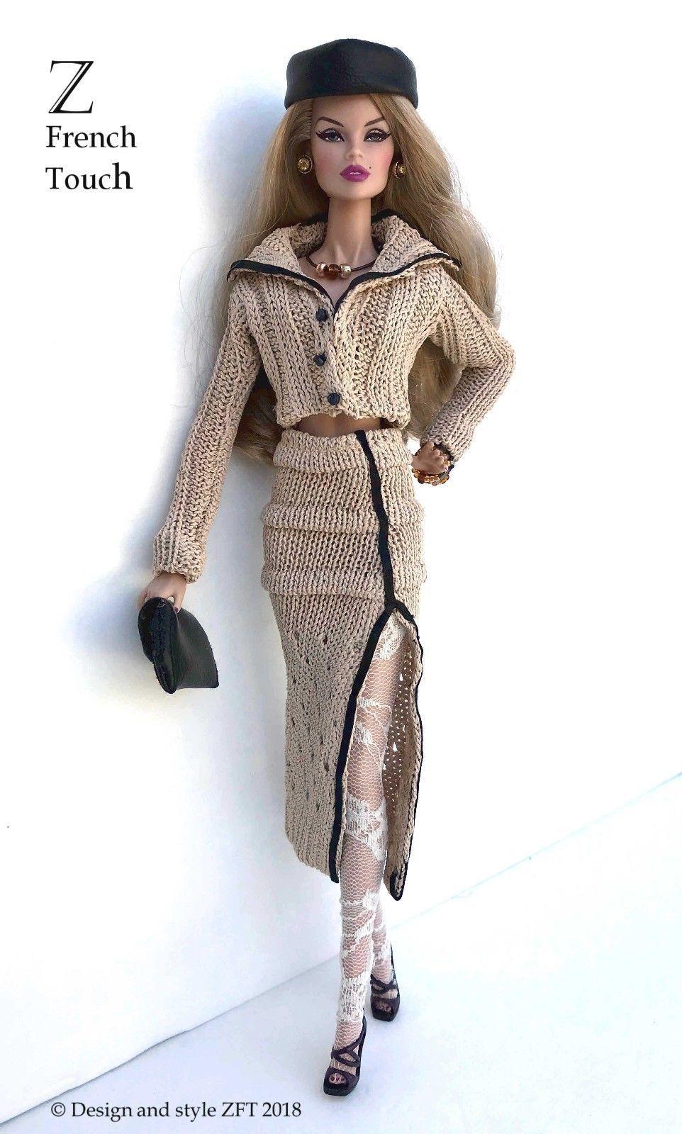 Vintage Style Ooak Barbie Dress and Sweater Handmade