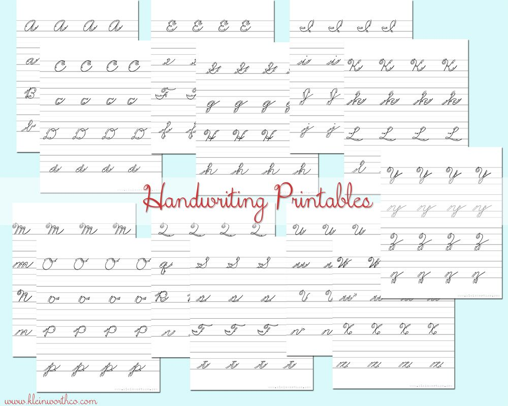 Worksheets  I hate that schools aren't teaching cursive anymore. Work with y