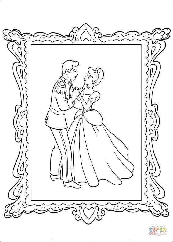 Picture Of The Prince And Cinderella Super Coloring ♡ Rhpinterest: Super Coloring Pages Disney Princess At Baymontmadison.com