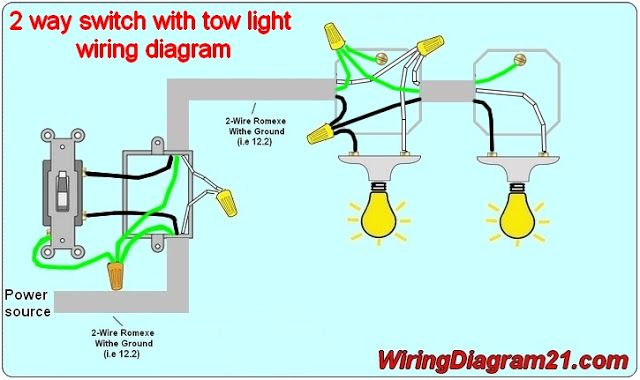 2 Way Light Switch Wiring Diagram Avec Images Electricite