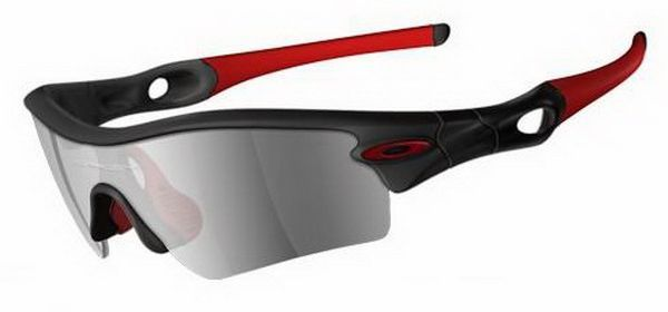 Oakley Radar Path Matte Black Team Cardinal Black Iridium Sunglasses