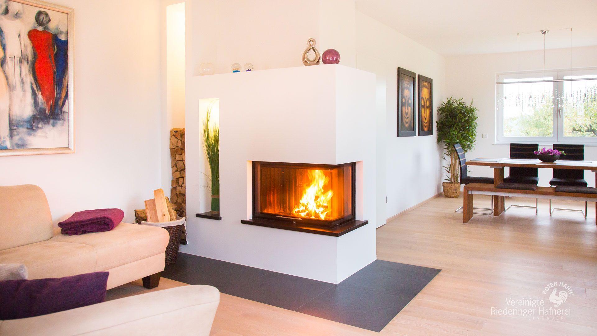 heizkamin schlicht wei gemauert mit stahlfunkenplatte heizkamin ofen ofensetzer. Black Bedroom Furniture Sets. Home Design Ideas
