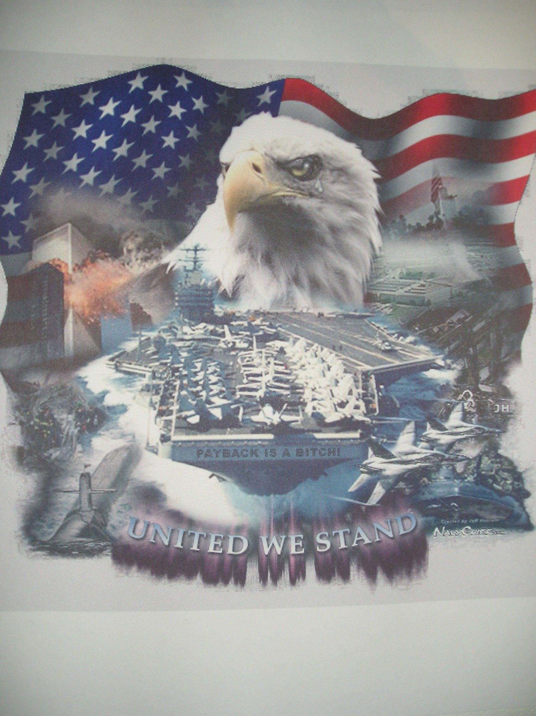 "38 ""Ragged Old Flag"" United We Stand, American Flag, American Spirit,"