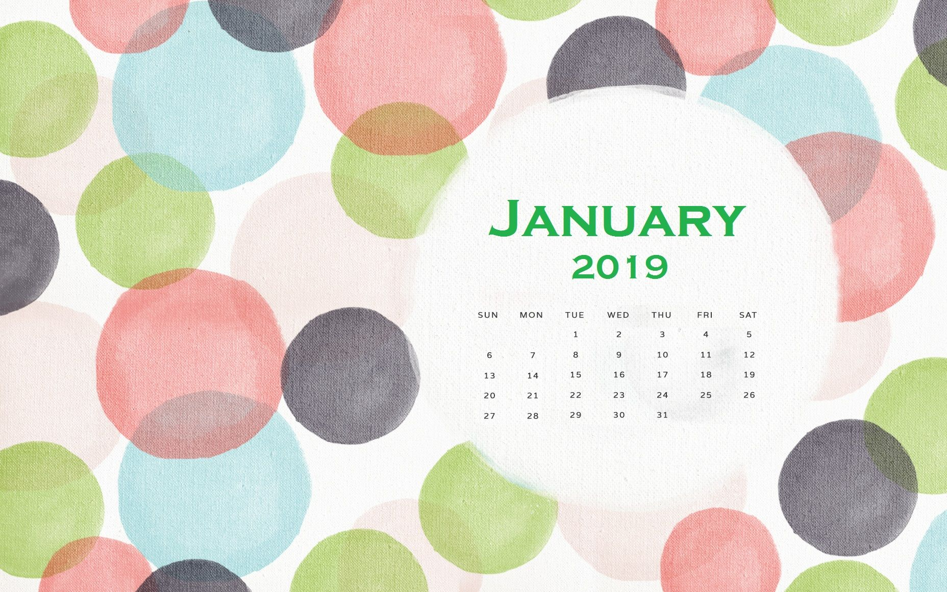 Cute January 2019 Calendar Wallpaper Calendar Wallpaper Wallpaper Cute Computer Backgrounds