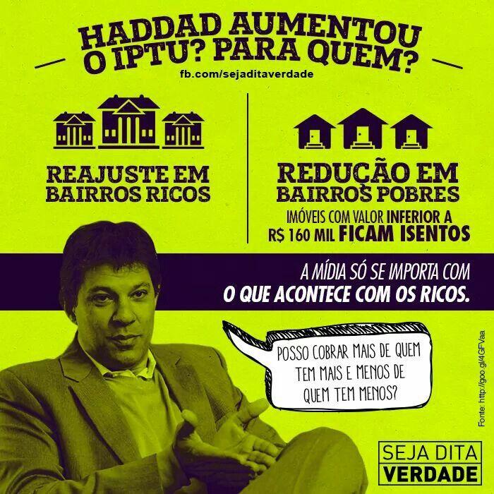 A mídia só se importa com o que acontece com os ricos (por isso a reação contra Fernando Haddad - novembro.2014).