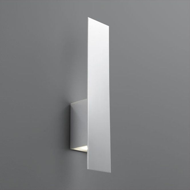 A Clean Simple Design Takes The Lead In This Understated Sconce In Which A Metal Shield Hid Modern Wall Sconces Wall Lighting Design Contemporary Wall Sconces