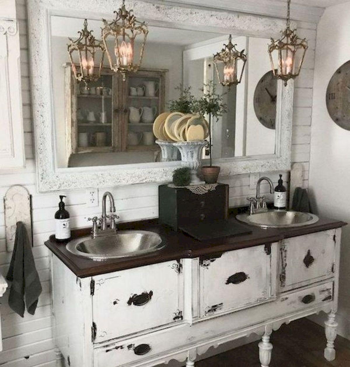 Nice 50 Awesome Modern Farmhouse Bathroom Remodel Ideas