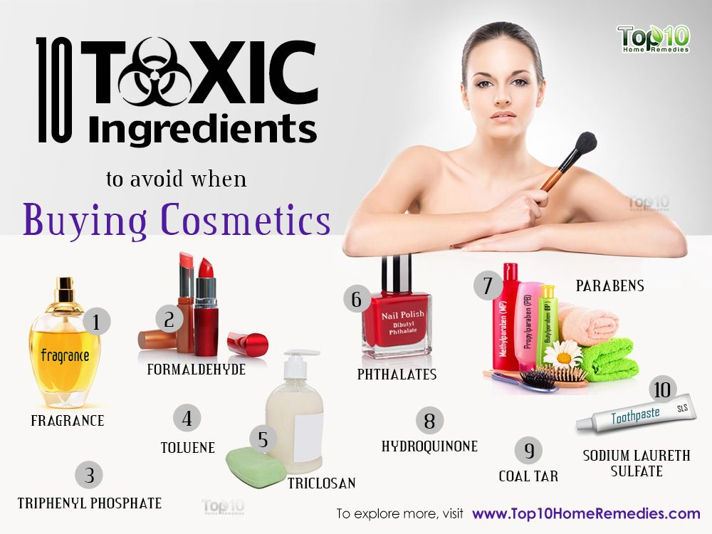 10 Toxic Ingredients You Should Avoid When Buying Cosmetics And Other Beauty Products Top 10 Home Remedies Tanning Solution Skincare Ingredients In Cosmetics